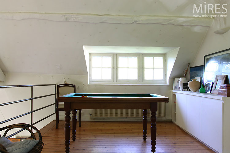 Pool table and mezzanine. C0436
