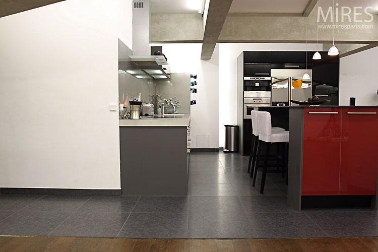 Loft mires paris for Cuisine ouverte loft