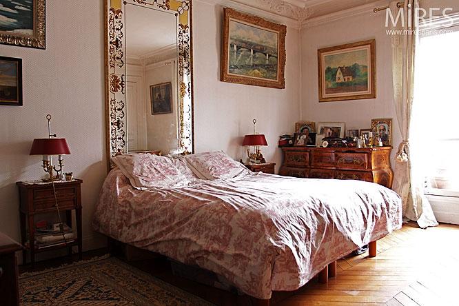 miroir en t te de lit c0297 mires paris. Black Bedroom Furniture Sets. Home Design Ideas