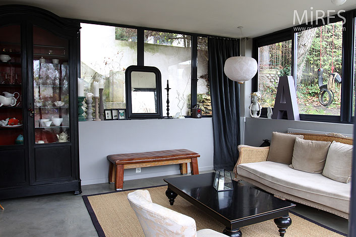 salon en rez de jardin c0007 mires paris. Black Bedroom Furniture Sets. Home Design Ideas