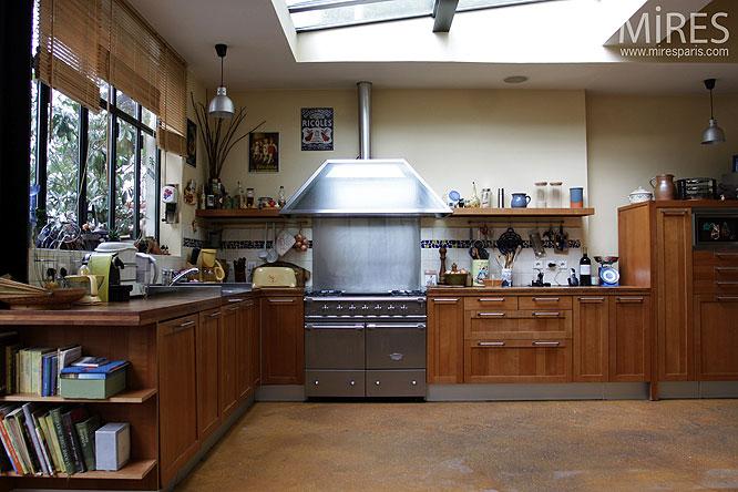 cuisine ouverte sous verri re c0218 mires paris