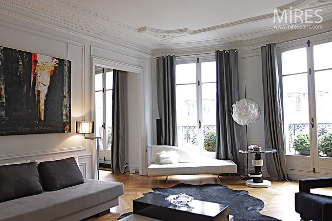 Appartement mires paris for Deco sejour haussmannien