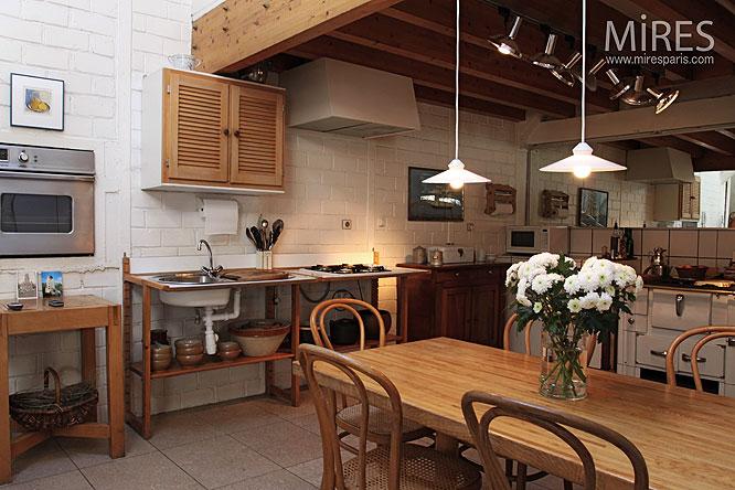 Cuisine sous mezzanine. C0034