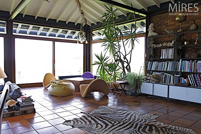 Peau de bête et plantes d'intérieurs. C0061