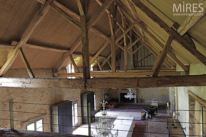 Chambre Industriel Deco : Mezzanine et poutres apparentes c mires paris