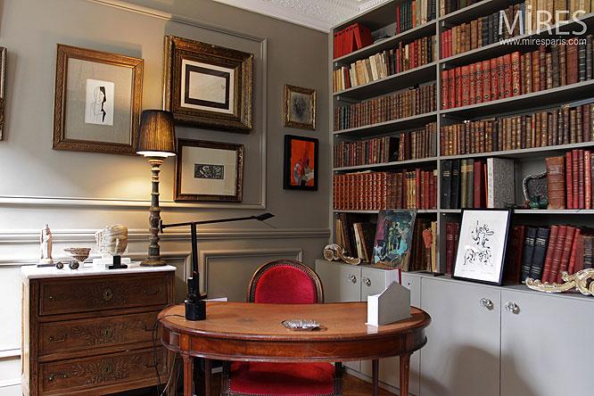 Chambre et bureau c0092 mires paris - Bureau classique ...