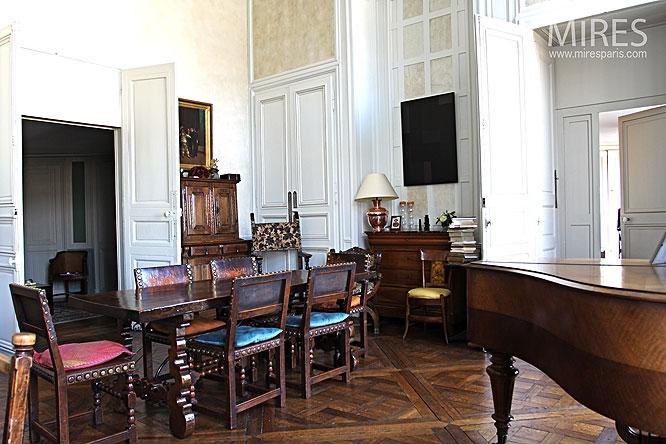 Salle manger et meubles anciens c0108 mires paris - Salle a manger moderne et ancien ...