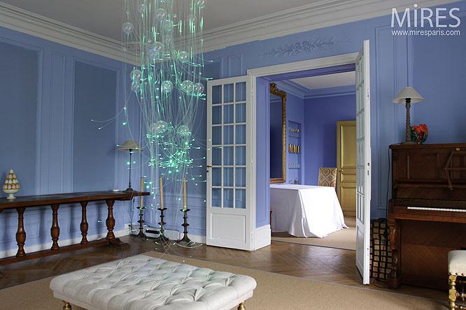S jour bleu d co c0120 mires paris for Deco sejour bleu