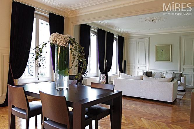 double s jour haussmannien c0127 mires paris. Black Bedroom Furniture Sets. Home Design Ideas