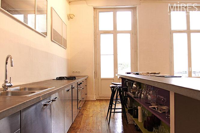 cuisine ouverte c0227 mires paris. Black Bedroom Furniture Sets. Home Design Ideas