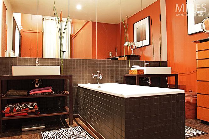 Orange de bain. C0227 | Mires Paris