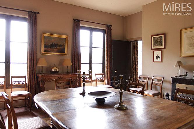 Un d ner rustique c0151 mires paris - Papier peint pour salon et salle a manger ...