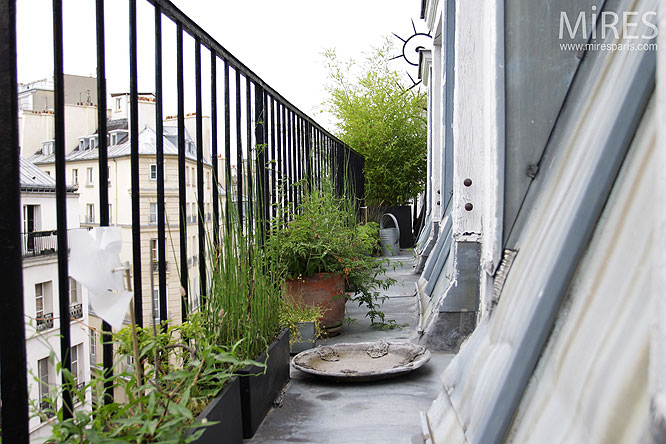 Petit balcon parisien c0136 mires paris for Petit garage paris