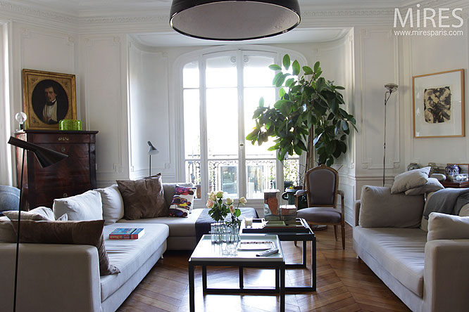 S jour haussmannien c0240 mires paris for Decoration interieur haussmannien