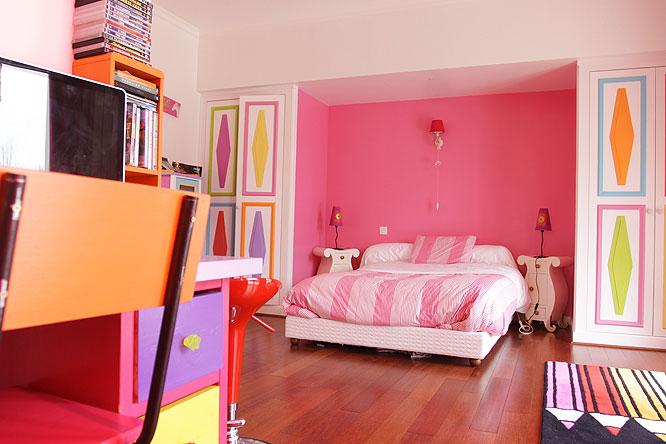 Chambre rose C0222 Mires Paris ~ Quarto Rosa Choque