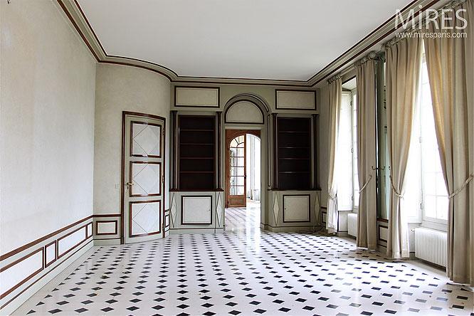 Salon de r ception c0143 mires paris Carrelage annee 70