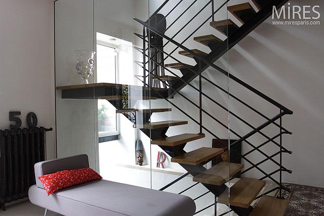 escalier d co c0137 mires paris. Black Bedroom Furniture Sets. Home Design Ideas