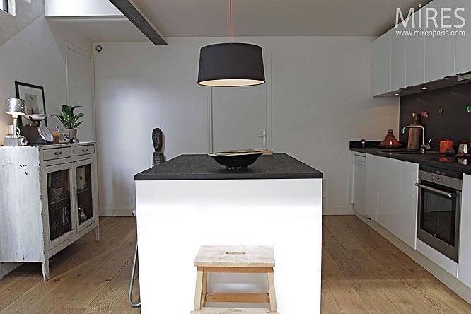 parquet dans la cuisine. affordable idal dans la duune cuisine