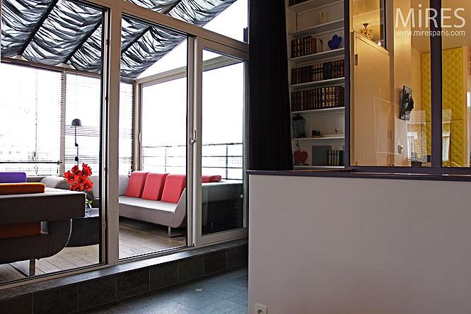 s jour et baie vitr e c0236 mires paris. Black Bedroom Furniture Sets. Home Design Ideas