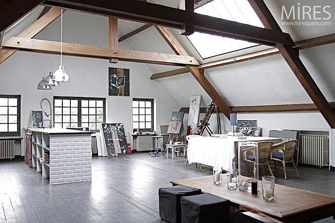 Chambre Deco Garage : Loft à la ferme c mires paris