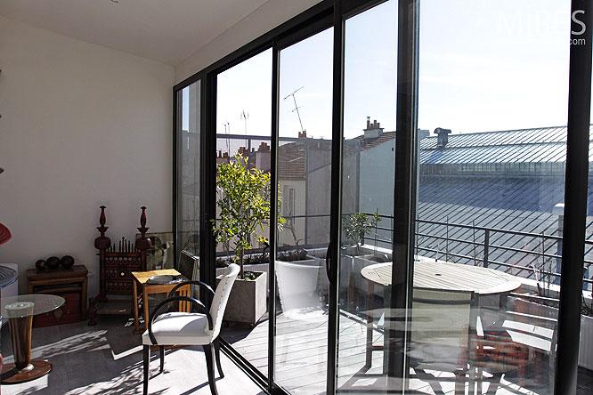terrasse et baie vitr e c0280 mires paris. Black Bedroom Furniture Sets. Home Design Ideas