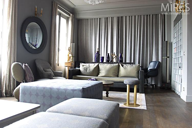 Salon bleu gris. C0323