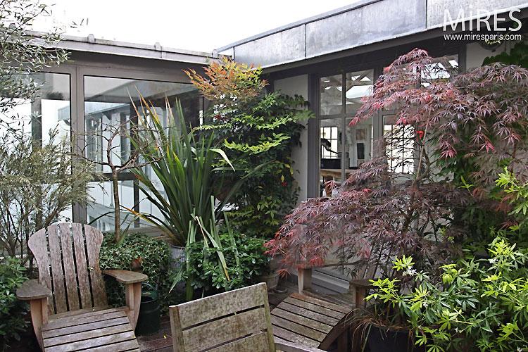 Terrasse bucolique c0328 mires paris for Terrasse a paris immobilier