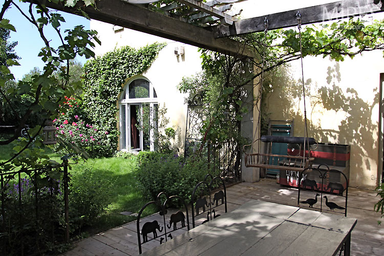 Terrasse et vigne vierge C0348 Mires Paris