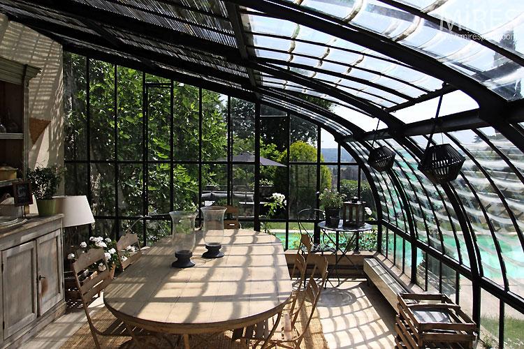 Salle manger sous serre c0349 mires paris - Salle a manger de jardin ...