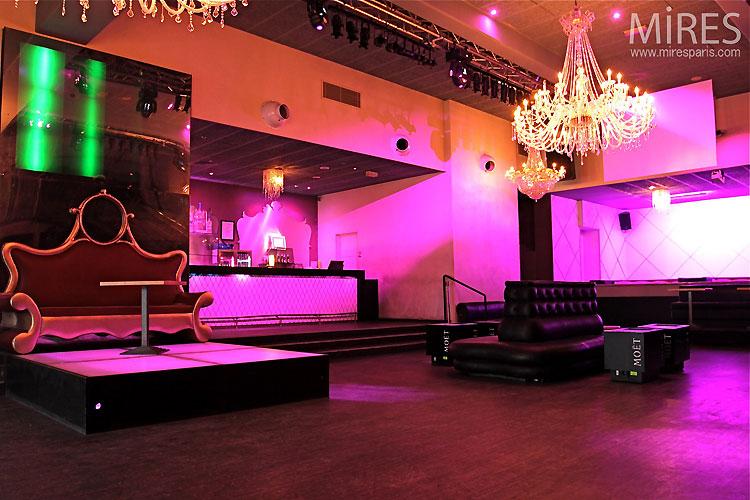 Night club et lumi re d ambiance c0148 mires paris - Lumiere d ambiance salon ...