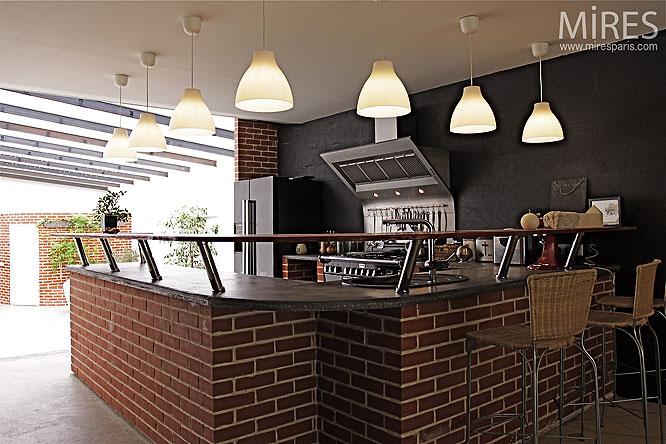 Cuisine Bar Brique : Comptoir culinaire en brique c mires paris