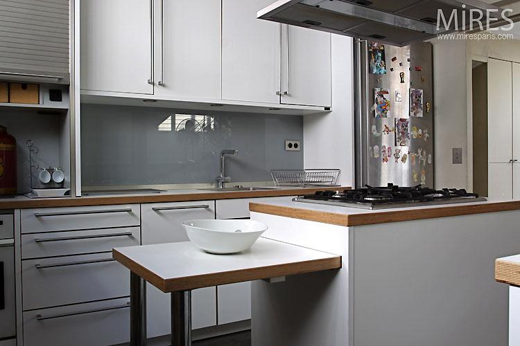 Cuisine moderne ouverte c0395 mires paris for Photo cuisine moderne ouverte