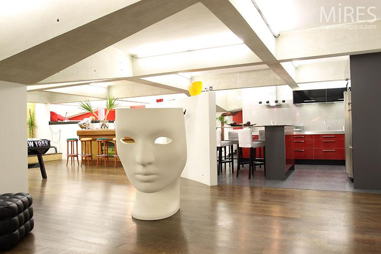Cuisine ouverte design c0437 mires paris for Cuisine ouverte design
