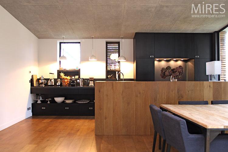 Cuisine ouverte moderne. C0461   Mires Paris