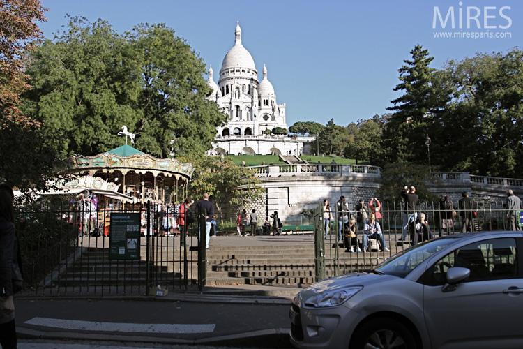 Au pied du Sacré-Cœur. C0631