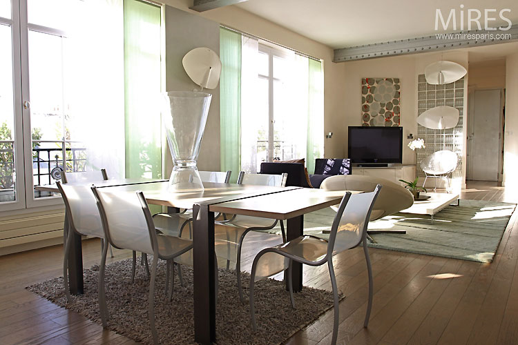 Am nagement salle manger contemporaine - Idee amenagement petit salon salle a manger ...