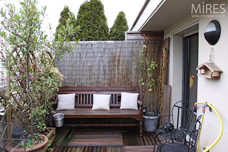 petite terrasse bois e c0513 mires paris. Black Bedroom Furniture Sets. Home Design Ideas