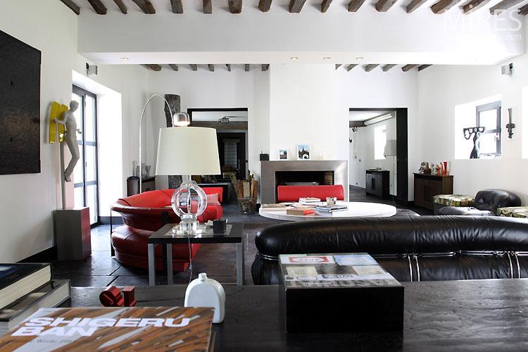 Chambre Deco Garage : Grand salon moderne c mires paris