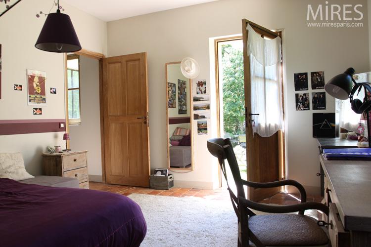 Une chambre bureau de plain pied avec le jardin c0590 for Carrelage ile de france