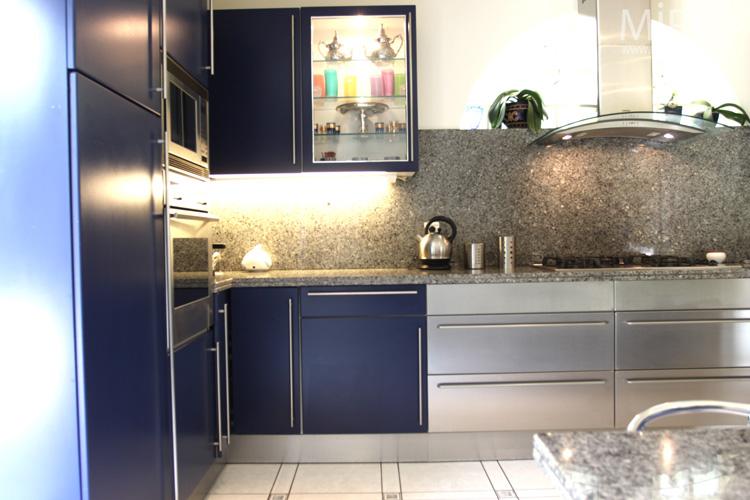Bleu Nuit Blanc Marbre Gris C0602 Mires Paris