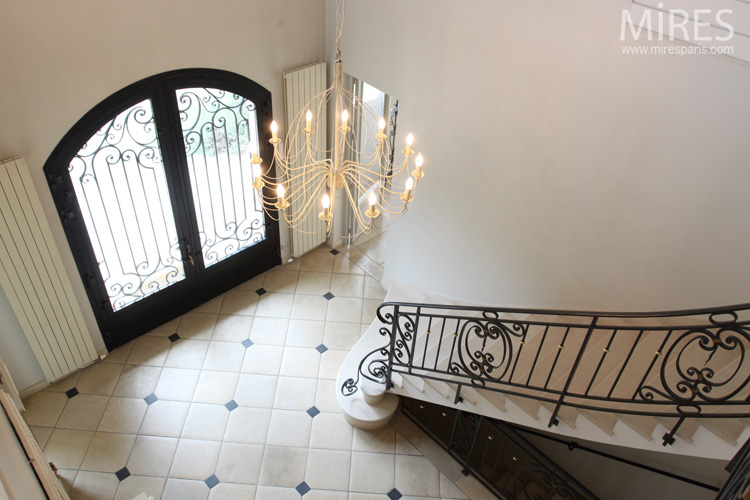 Wrought iron railings stair and balustrades. C0568