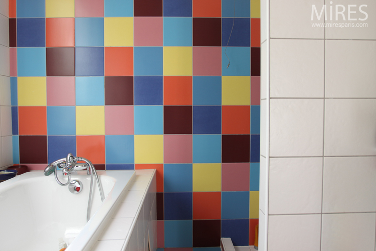 Multicolored  tiles. C0643