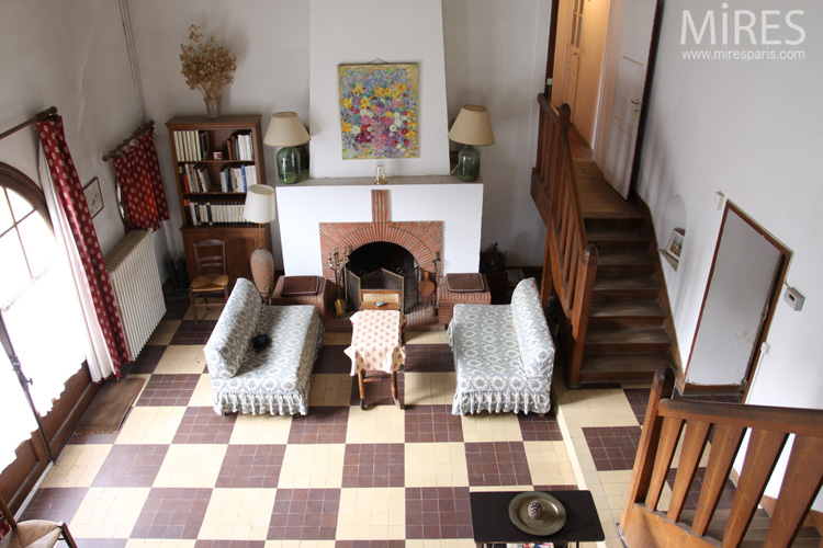 Salon Symetrique Avec Double Escalier C0660 Mires Paris