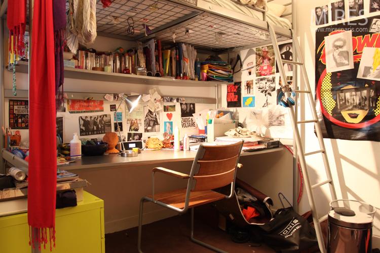 Chambre ado, lit mezzanine. C0558 | Mires Paris