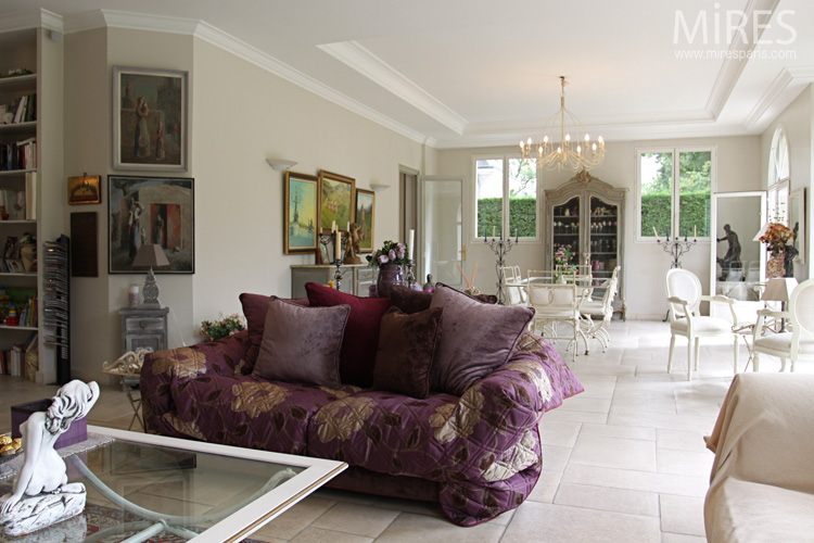 Deep Sofas And Oriental Rugs C0568