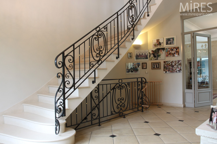 wrought iron railings stair and balustrades c0568 mires. Black Bedroom Furniture Sets. Home Design Ideas
