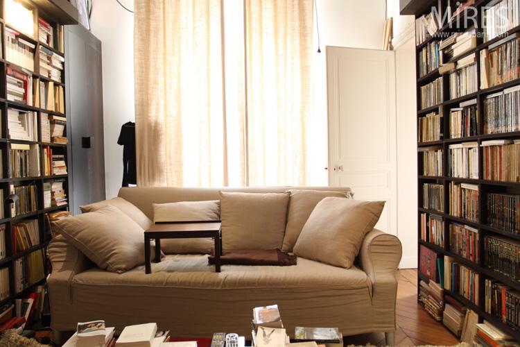 Confortable bureau-bibliothèque. C0610