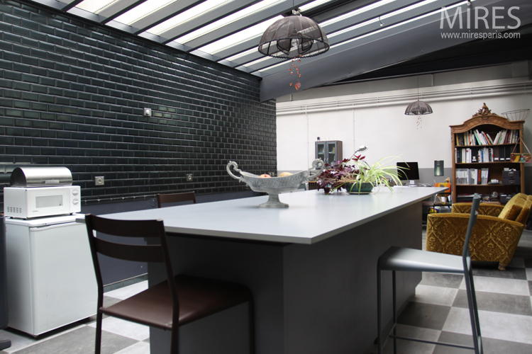 Beautiful Carrelage Metro Noir Cuisine Contemporary - Yourmentor ...