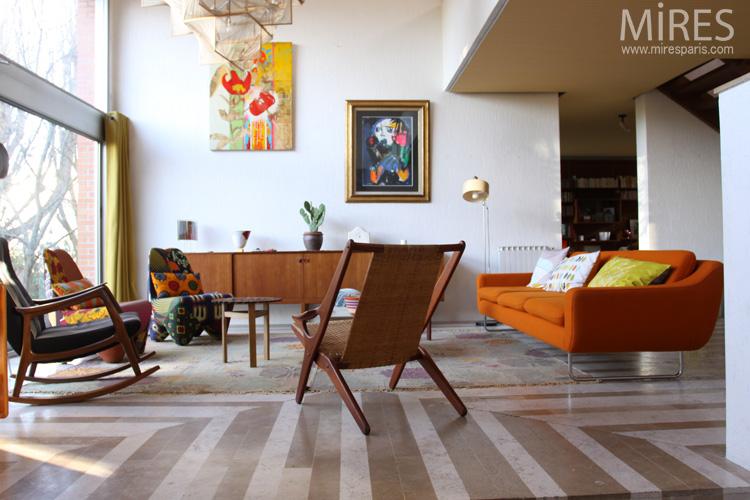 couleur et mobilier vintage style danois c0665 mires paris - Mobilier Vintage Paris