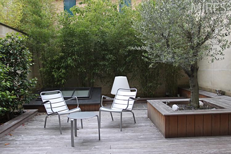 olivier et bambous sur deck c0719 mires paris. Black Bedroom Furniture Sets. Home Design Ideas